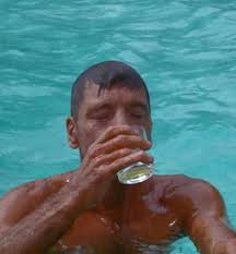Burt Lancaster boozing it up